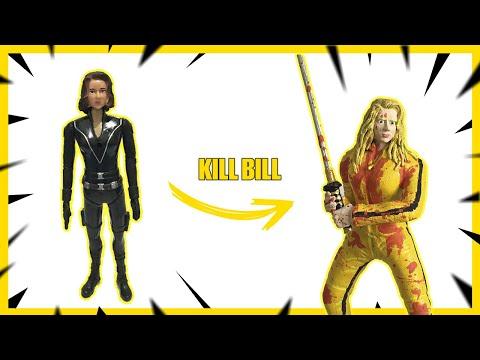 transformando-a-viÚva-negra-na-beatrix-kiddo-(a-noiva)-kill-bill---toy-makeover-[-repost-]