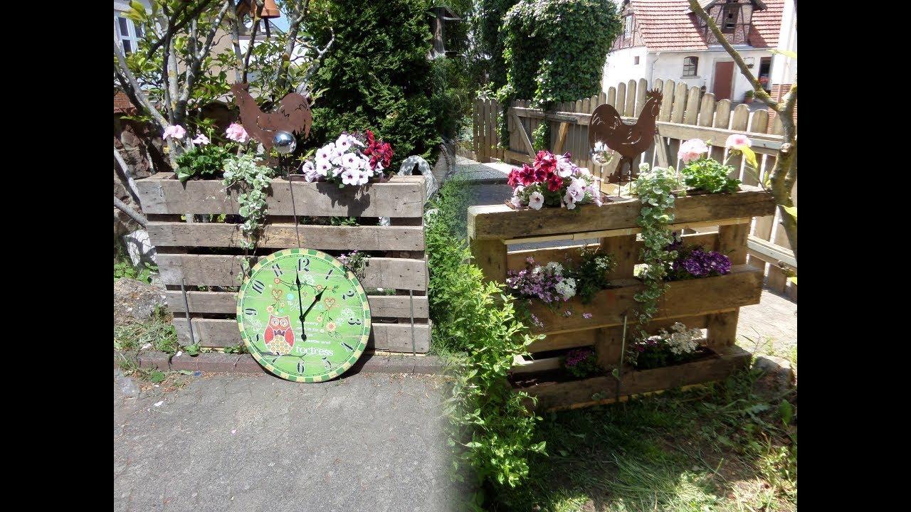 Diy Paletten Blumen Deko Sichtschutz Zaun Mehr Youtube