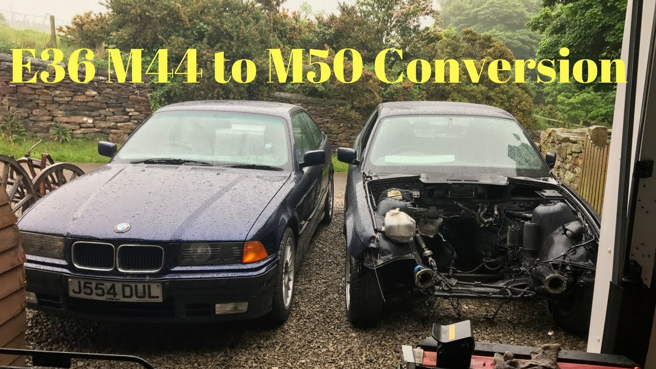 small resolution of e36 4 cylinder m44 to 6 cylinder m50 engine swap diy