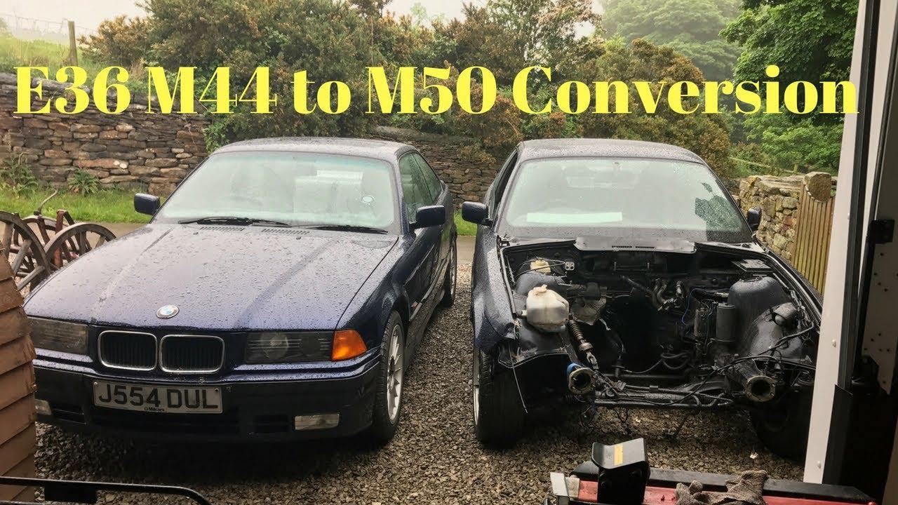e36 4 cylinder m44 to 6 cylinder m50 engine swap diy [ 1280 x 720 Pixel ]