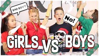 BOYS VS GIRLS COOKIE BACK CHALLENGE ESKALIERT | MaVie Noelle Family