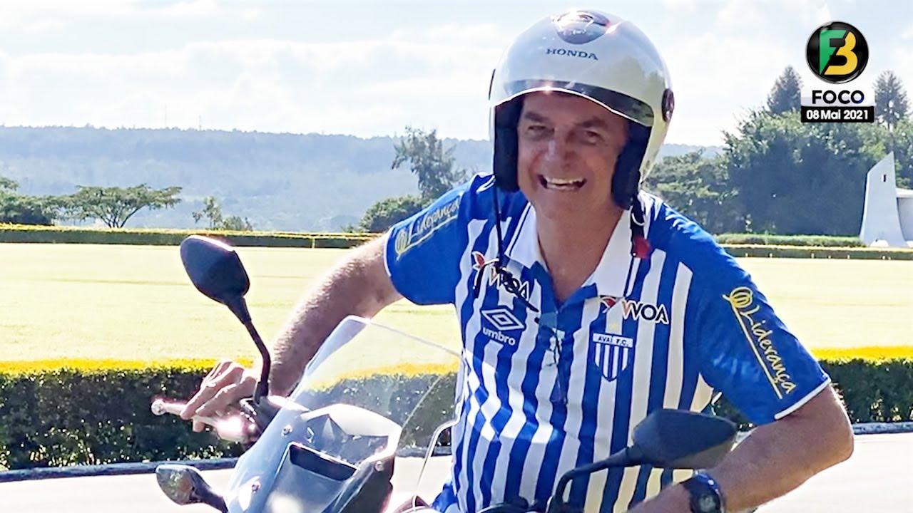 Bolsonaro chega de Moto e fala sobre Eleições, Poder, STF, CPI, Economia, Lockdown, Liberdade e mais