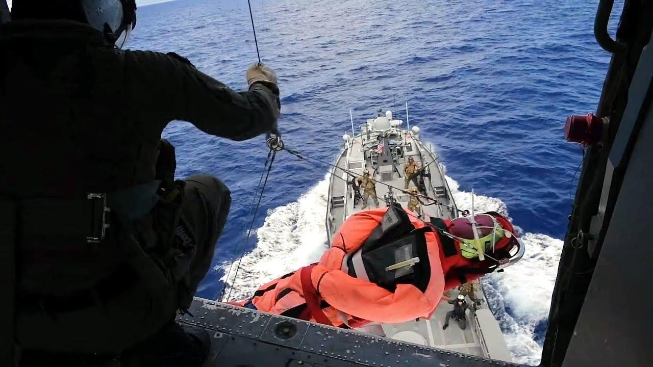 Sailors Conduct Casualty Evacuation Training