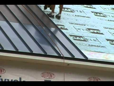 Solar Thin Film Metal Roof Installation by Global Home Impro