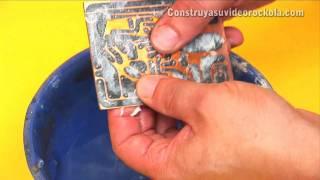 Fabricación de circuitos impresos con el método de planchado