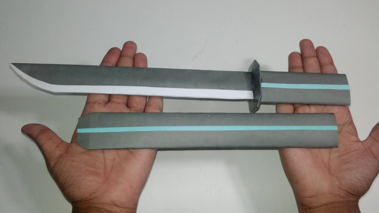 How to make a origami ninja sword easy