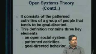 Lecture - 30 Organization Theory - I