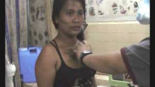 Tattoo on boobs: Filipina bar girl gets a chest piece inked (Part 2)