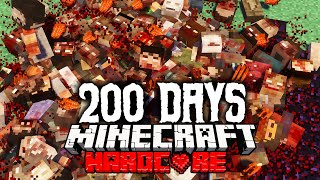 How I Survived 200 Days in a PostApocalyptic WASTELAND in Minecraft