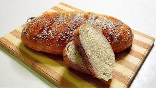 Хлеб Домашний и очень вкусный батон в духовке Быстрый рецепт без заморочек
