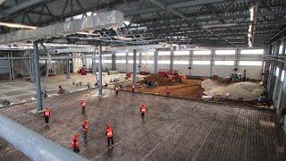 Таймлапс стройки завода Rockwool | Timelapse строительства (ускоренная съёмка)