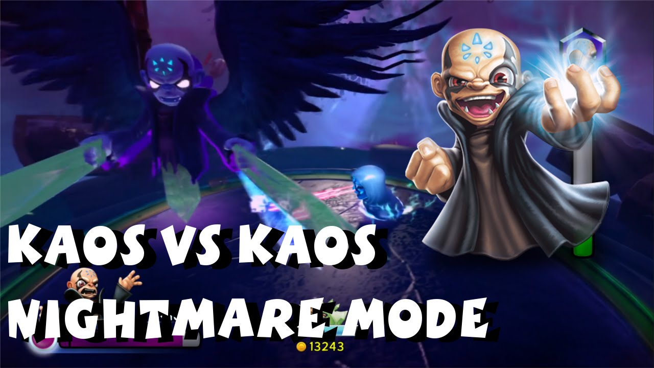 Skylanders Trap Team - Kaos Boss Battle Nightmare Mode and ...