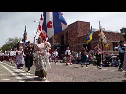 Holland Christian High school Marching band May-11-2017 Tulip Time parade