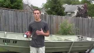 Boat Lighting Setup- 14' Jon Boat-- Stern, Port-side, Starboard Side Lights