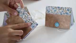 Como fazer caderninhos com caixa de cereal