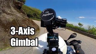 feiyu g3 ultra 3 axis handheld gimbal on motorcycle helipal com
