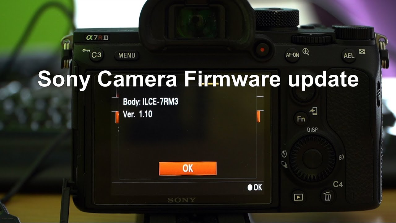 how to update firmware sony a7riii
