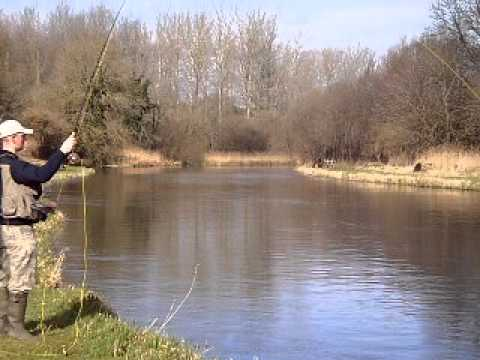 Fly fishing on the river test at stockbridge youtube for Ruby river fishing report