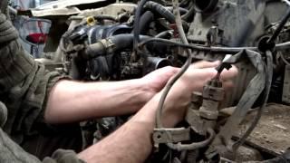 Чистка механической дроссельной заслонки Toyota Probox  1 NZ