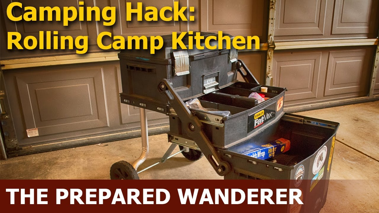 Camping Hack, Rolling Camp Kitchen