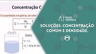 SLIDES - Soluções: Concentração comum e densidade.