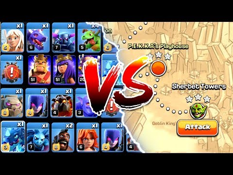 EVERY SINGLE TROOP vs SINGLE PLAYER IMPOSSIBLE CHALLENGE! - Clash Of Clans