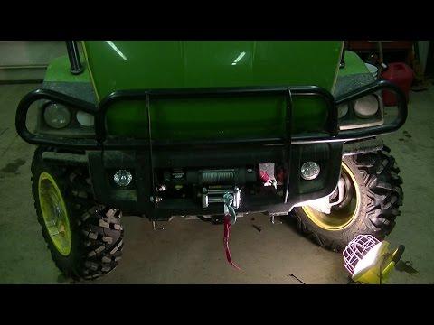 How to Mount a Warn Winch on a John Deere XUV Gator - YouTube John Deere Gator Xuv Wiring Diagram on craftsman tractor wiring diagram, peg perego gator xuv wiring diagram, polaris trail boss wiring diagram, john deere 620i wiring diagram,