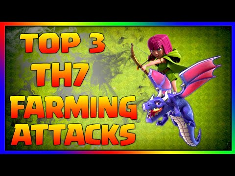 Top 3 TH7 Farming Attack Strategies | Best Town Hall 7 Farming Strategy - Clash Of Clans