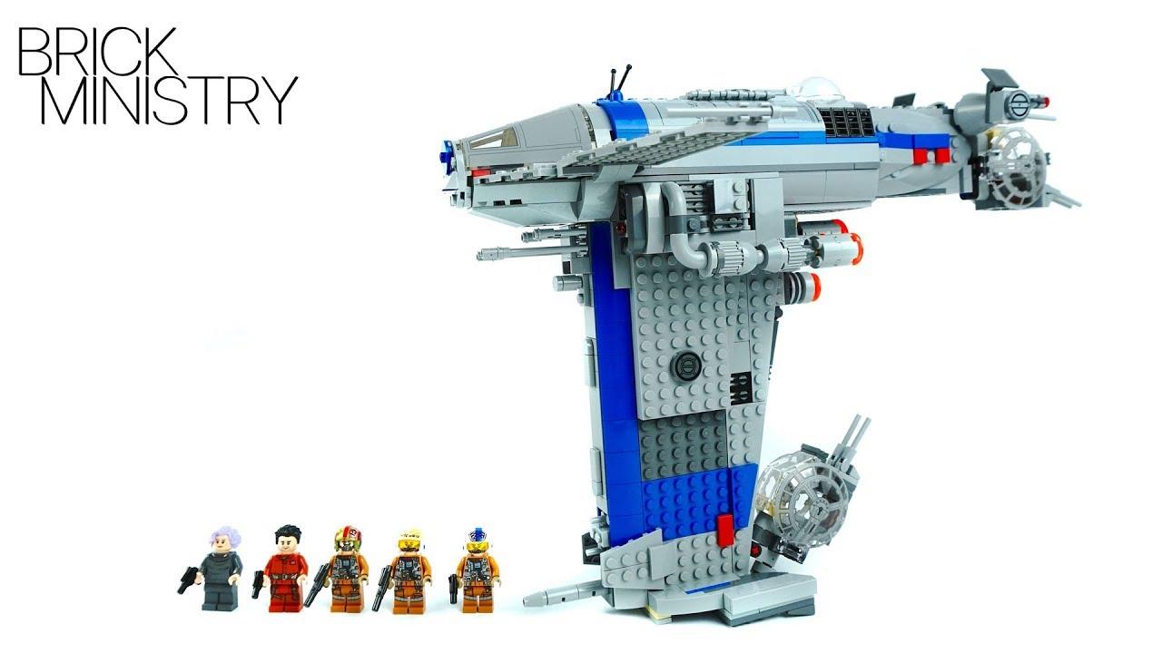 Lego 75188 star wars resistance bomber youtube - Croiseur interstellaire star wars lego ...