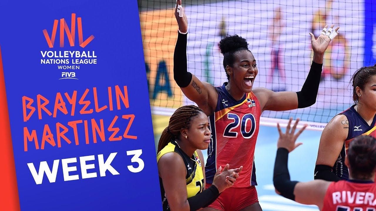 Brayelin Martinez leads the scoroer board | #VNLWomen Week 3! | Volleyball Nations League 2019