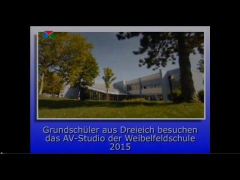 Grundschüler aus Dreieich besuchen das AV Studio der Weibelfeldschule 2015