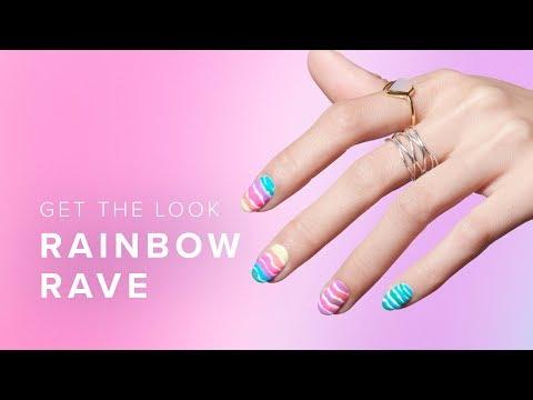 Pro Wavey Striped Rainbow Nail Art Tutorial thumbnail