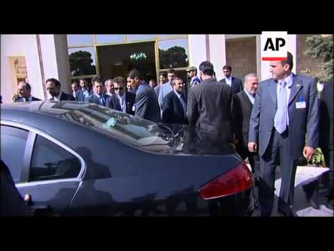 WRAP Syrian president Assad arrives for talks  with Ahmadinejad