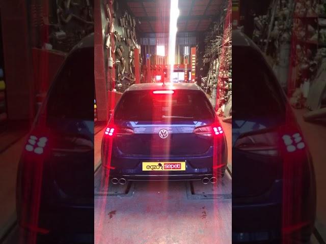 VW GOLF 7,5 1.4 TSİ KUMANDALI VAREX EGZOZ SESİ