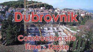 Sveučilište u Dubrovniku, Gradilište - Studentski dom, Time - Lapse
