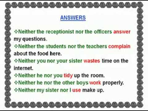 Subject Verb Agreement In The Simple Present Tense Part 2 Youtube
