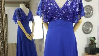 로얄블루 스팽글 에이라인 파티 이브닝 드레스 쇼핑몰 1…