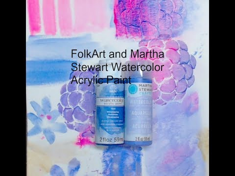 FolkArt and Martha Stewart Watercolor Acrylic Paint