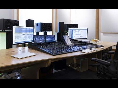 Custom built composing desk for Giles Martin installation