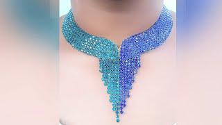 How To Make Designer  Necklace At Home | DIY | Hand Made Bridal Necklace | Chokar  | Uppunuti Home