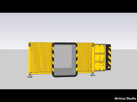 LabZero minimum mobile module made of shipping container
