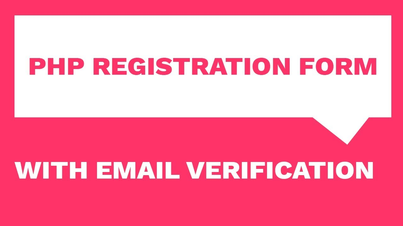 PHP Registration Form, Email Confirmation & Responsive Email