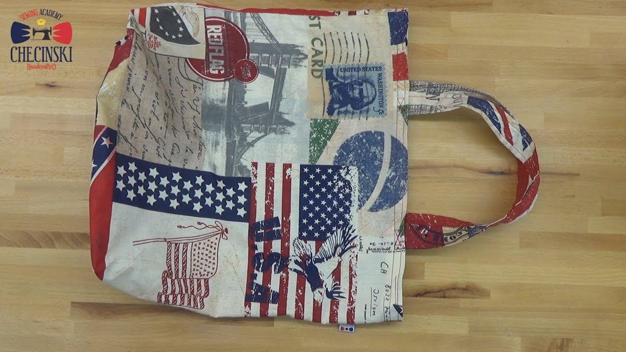 f02531f6683c0 Jak uszyć Torbę na zakupy - krok po kroku. How to sew shopping bag ...