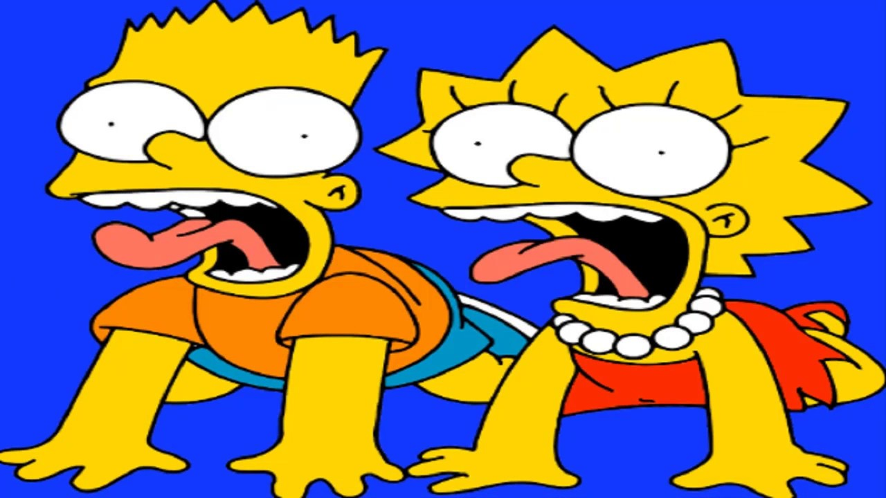 Simpsons coloring games online - Coloring The Simpson Lisa And Bart Screaming For Kids For Baby