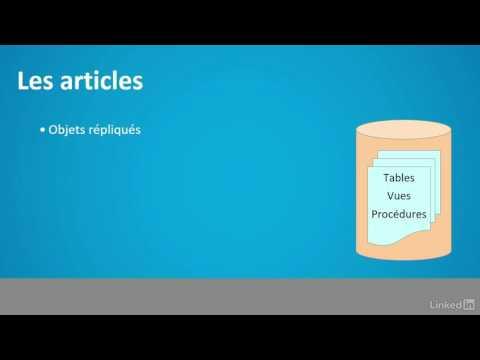 Tutoriel SQL Server : Aborder les publications et les articles | video2brain.com