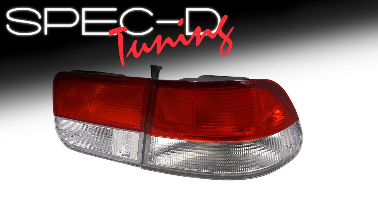 Specdtuning Demo Video 1996 2000 Honda Civic 2 Door Tail Lights