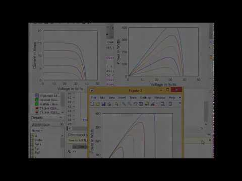 Solar Panal (Solar Cell) MPPT coding in MATLAB