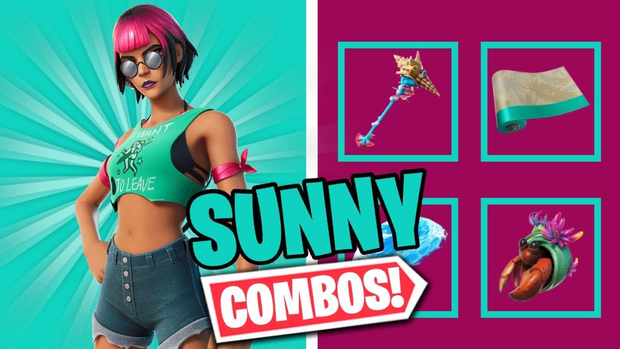 Download BEACHCOMBER SUNNY COMBOS   FORTNITE SKIN REVIEW