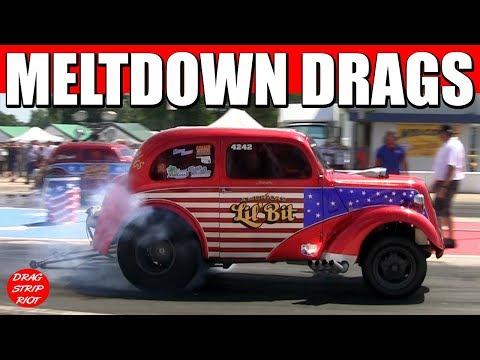 2017 AA Gassers Nostalgia Drag Racing Anglia Cars Meltdown Drags Byron Dragway USA Video