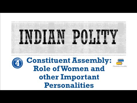 Lec 4-Constituent Assembly-Important Personalities with Fantastic Fundas | Indian Polity